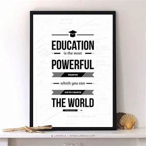 Education Is The Most Powerful Weapon Poster : education is the most powerful weapon nelson mandela by labno4 ~ Markanthonyermac.com Haus und Dekorationen