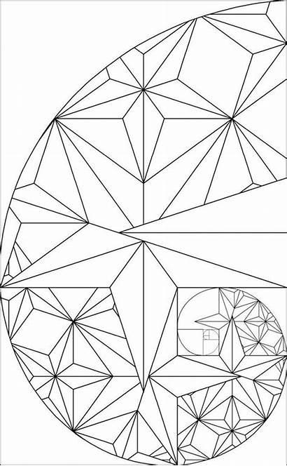 Fibonacci Golden Ratio Rectangle Sequence Coloring Pages