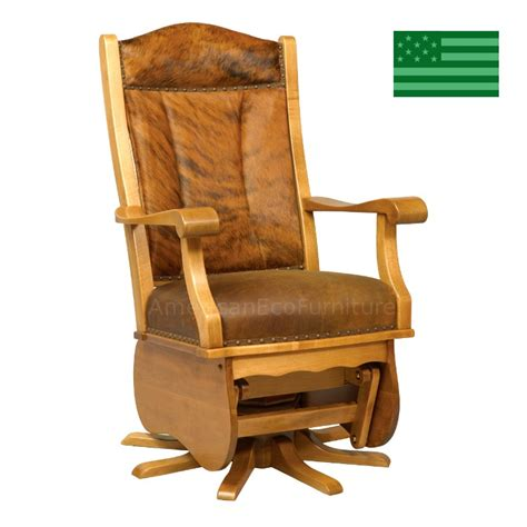 amish fulton swivel glider solid wood made in america