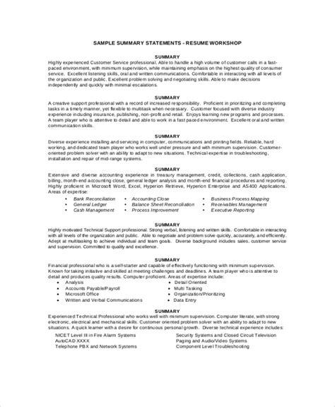 summary examples  resume