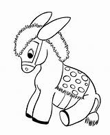 Donkey Coloring Pages Printable Sheets Animal Printables sketch template