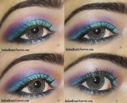Makeup Eye Tutorial Bright Step Purple Indian
