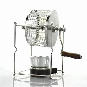 1pc Manual Coffee Bean Roaster 304 Stainless Steel Hand