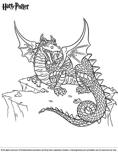 Challenging Dragon Coloring Pages