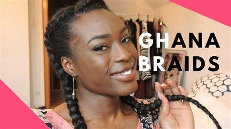ghana braids realiser des nattes couchees avec des