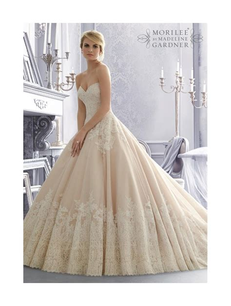 Mori Lee 2674 Lace Ball Gown Bridal Dress Ivory