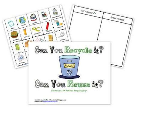 recycling lesson plans for preschool can you recycle it can you reuse it 584