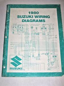 Official 1980 80 Suzuki Wiring Diagram Manual T Model