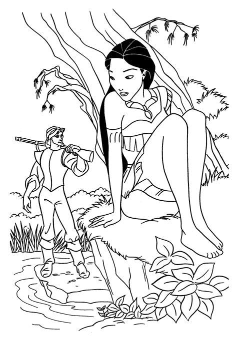 Coloring Disney Princess Coloring Book Page by Coloring Pages For Disney Princess Pocahontas