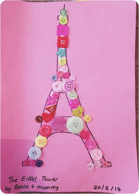 button crafts  bella eiffel tower   world