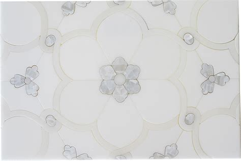 orchid water jet mosaic marble 187 otto tile