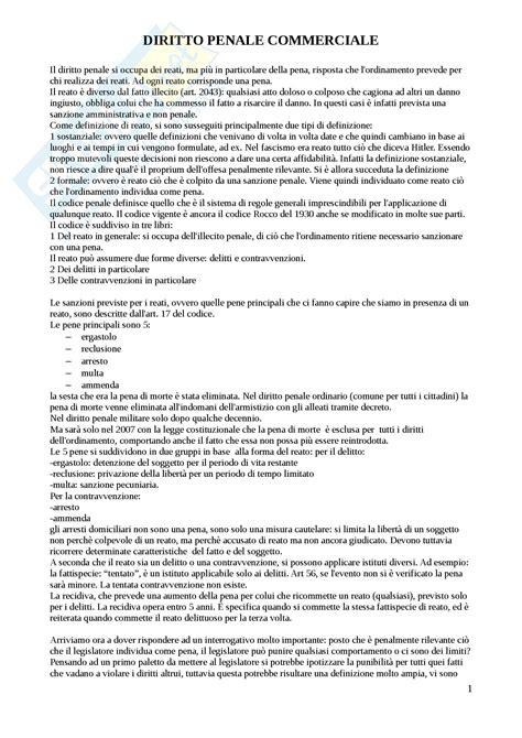 Dispensa Diritto Penale by Concetti Esame Appunti Di Diritto Penale Commerciale