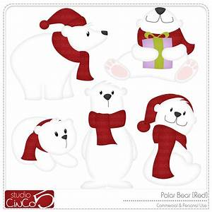 Cute Polar Bear Christmas Clipart - Clipart Suggest