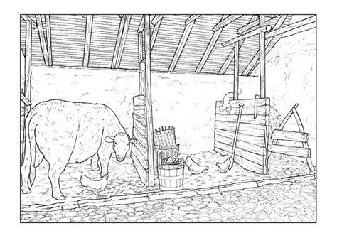 Paardenstal Kleurplaat by Kleurplaat Stal Afb 9894