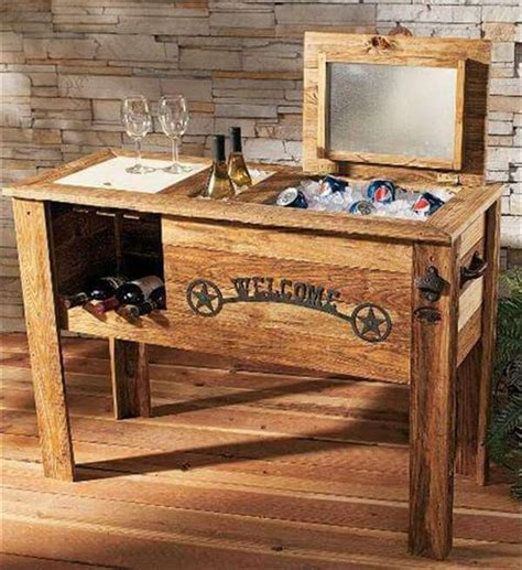 rustic wine cabinet diy wooden pallet cooler design diy recycled