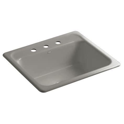 Kohler Cast Iron Sink Enamel Care by Shop Kohler Mayfield Single Basin Drop In Kitchen