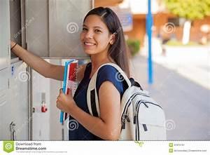 Happy High School Girl Stock Photo - Image: 41815797