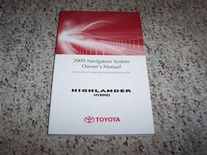 2009 Toyota Highlander Hybrid Factory Navigation System