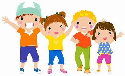 Clipart Children Fun Having Groupe Kid Bambini