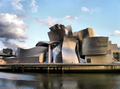 splendid guggenheim museum bilbao in spain