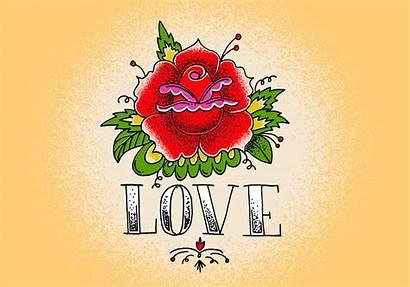 Tattoo Rose Vector Heart Illustration Skull Vecteezy