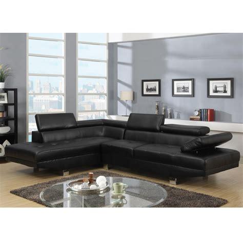 canapé d angle noir canape d 39 angle napoli cuir reconstitue noir gauche