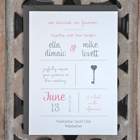 contemporary wedding invitation examples bonfx