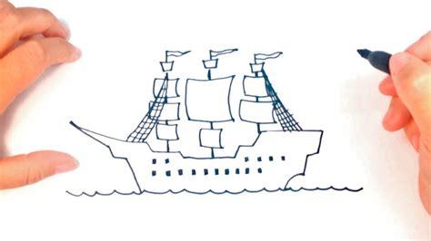 Imagenes De Barcos Piratas Para Dibujar by Como Dibujar Un Barco Pirata Paso A Paso Dibujo Facil De