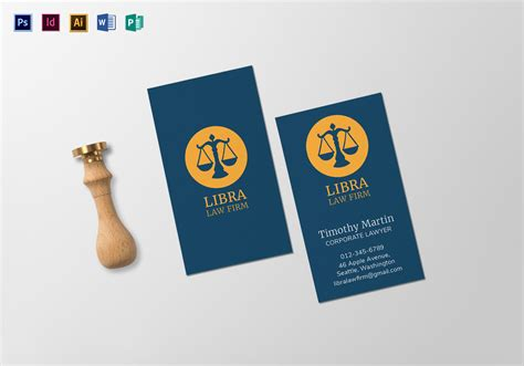 law firm business card template  psd word publisher