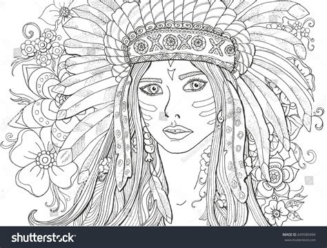 girl indian coloring pages printable coloring  kids
