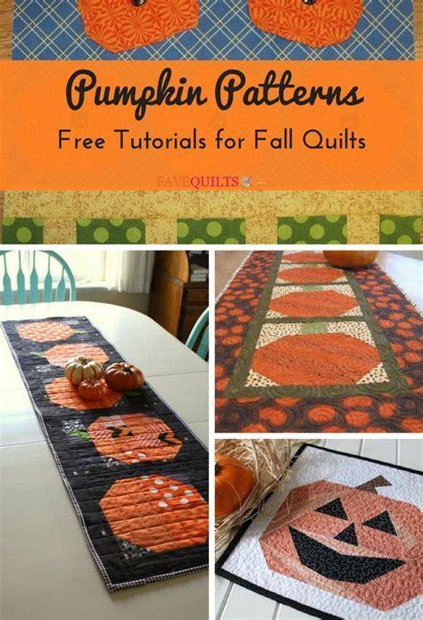 19 Pumpkin Patterns: Free Tutorials for Fall Quilts