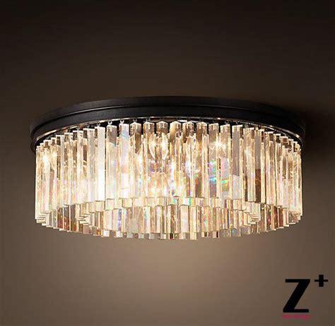 glass prism chandelier industrial diam 55cm rhys clear glass prism