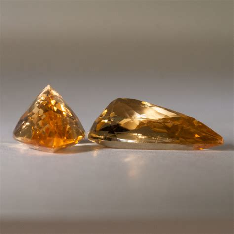 Imperial Topaz 12 23ct 3 50 carat imperial topaz pear cut pair brazil