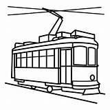 Transporte Trenes Transportes Tranvia Tranvía Verkehrsmittel Barcos Aviones Tren Coloriage Escuelaenlanube Tram Anglais Bicicletas Tramway Pictogramas Transportmittel Färben öffentliche Englischvokabeln sketch template