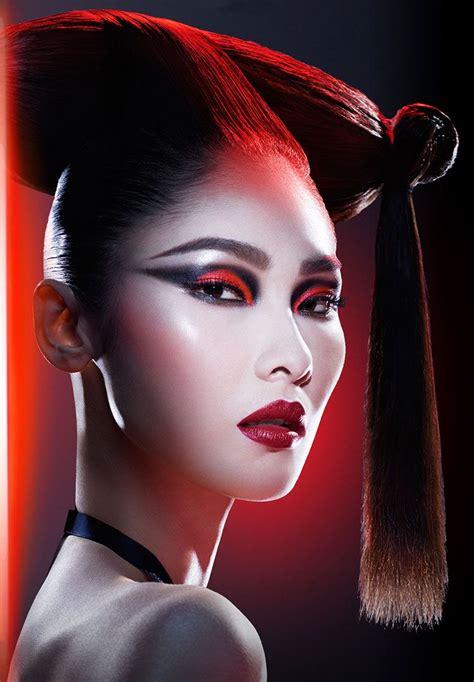 neonscope  covergirl makeup   star wars star wars makeup cover girl makeup geisha