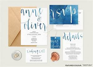 watercolour wedding invitation set printable wedding With wedding invitations sets australia