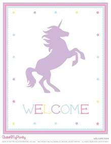 Unicorn Birthday Free Printables