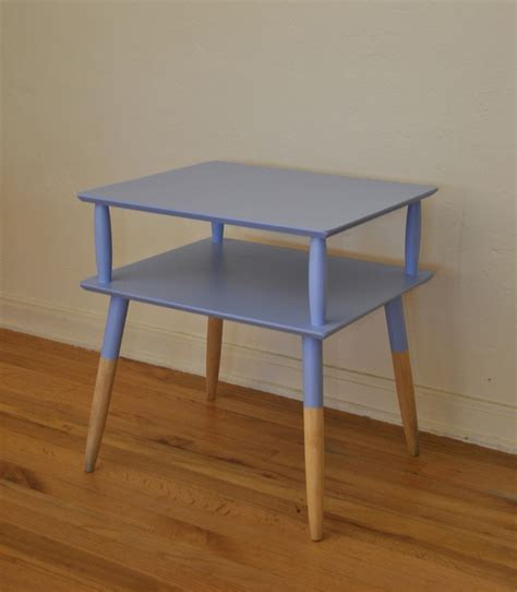 two tier end table vintage mid century two tier end table trevi vintage design