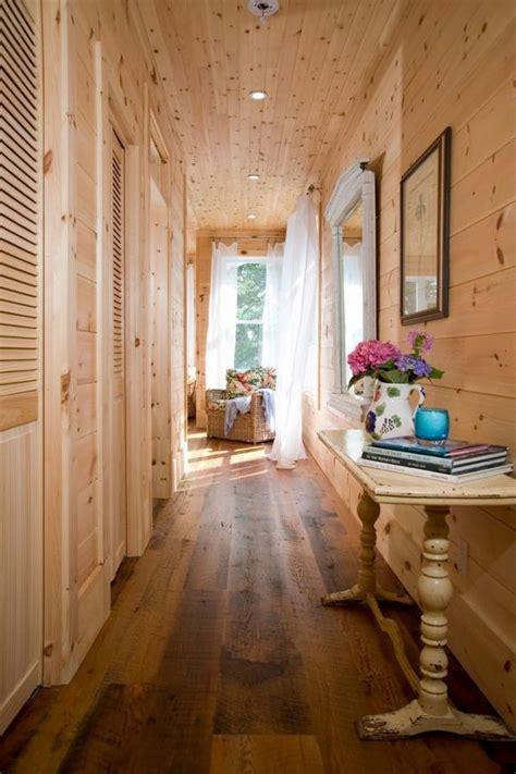 rustic home decor ideas hallway wood floor shiplap wall