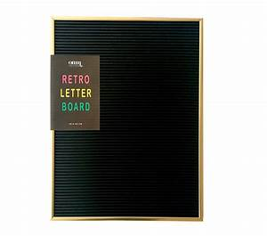 made590 omm design gold black retro letter board With retro letter board