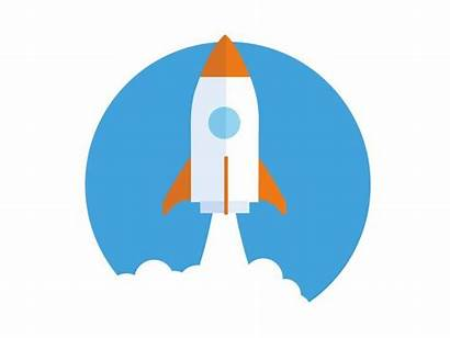 Lift Launch Project Rocket Icon Dribbble Illustration