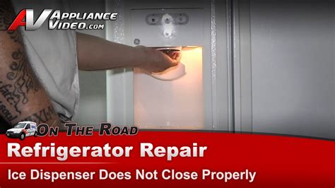 ge refrigerator repair ice dispenser   close properly gssiemaww youtube