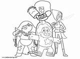 Universe Steven Coloring Pages Characters Printable Adults sketch template