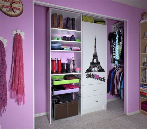 Bedroom Captivating Purple Themed Bedroom Closet