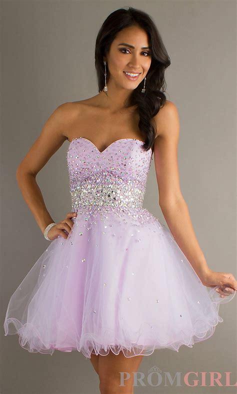 strapless beaded party dress mori lee short prom dress