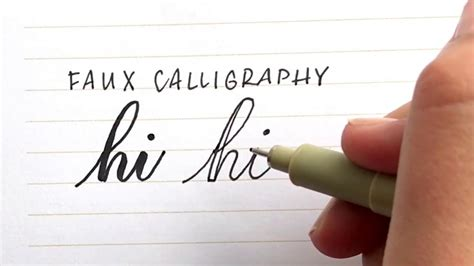 How To Do Faux Calligraphy Youtube