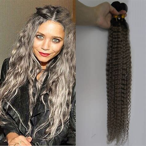 Afro Kinky Curly Grey Hair Weave 100 Virgin Silver