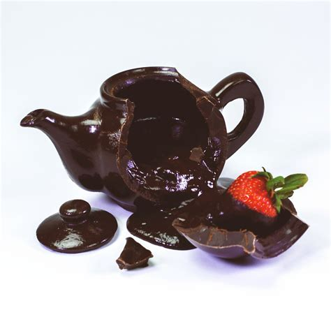 lifesize working chocolate teapot  green head