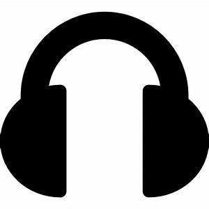 Black Headphones - Free music icons