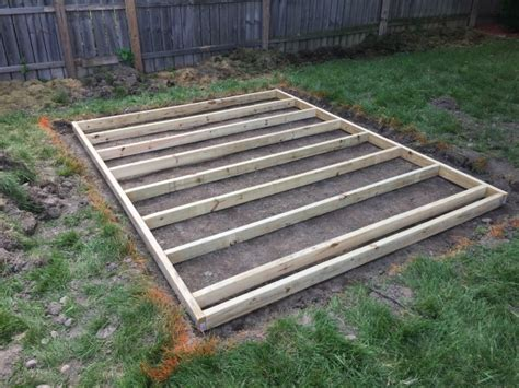 building a shed floor build a shed floor with pressure treated wood